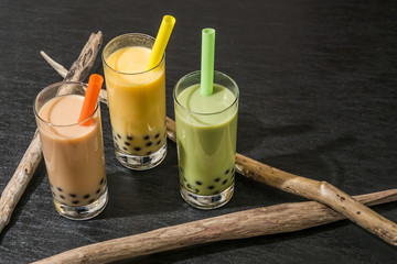 タピオカミルクティー タピオカドリンク  Tapioca bubble milk tea