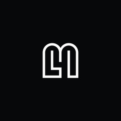 Outstanding professional elegant trendy awesome artistic black and white color M MM LM ML initial based Alphabet icon logo.