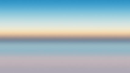 Ocean background horizon abstract blue, backdrop reflection. Wall mural
