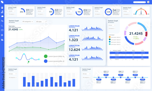 Dashboard, great design for any site purposes  Business