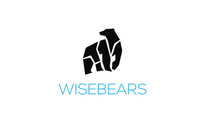 Great and Awesome Polar Bear logo mascot.