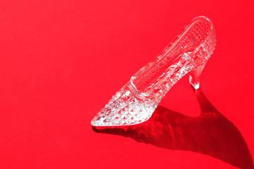 Glass Slipper On Red
