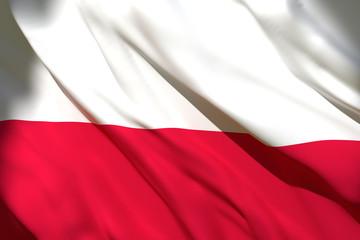Fototapeta 3d rendering of Poland flag obraz