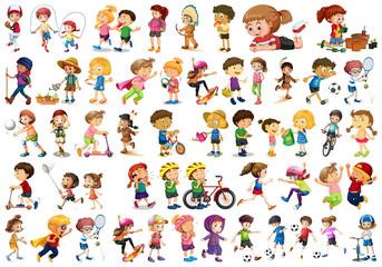 Wall Murals Kids Set of children character