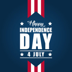 America Independence Day Vector Design Template