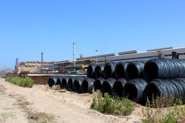 A view of the Libyan Iron and Steel Company (Lisco) in Misrata