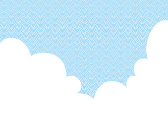 illustration with a white cloud and a continuous background.