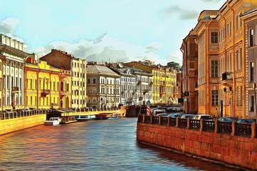 Embankment of the River Moika in St. Petersburg Fototapete