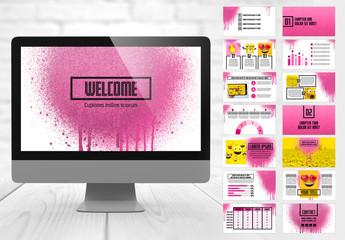 Pink Splash Style Presentation Layout