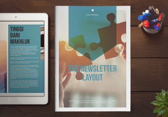 Teal and White Newsletter