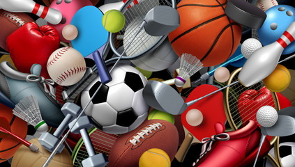 Fototapete - Sports And Games Background