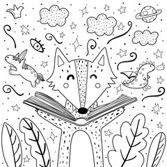 Forest Coloring Pages & Printables | Education.com | 240x240