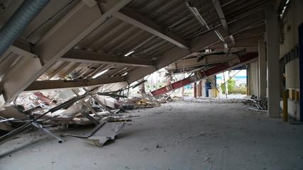 Acrylic Prints Old abandoned buildings Dismantling Destruction factory rubble Breaking