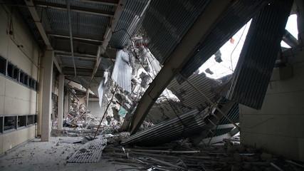 Dismantling Destruction factory rubble Breaking  Fotomurales