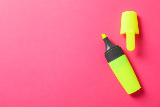 Open highlighter on color background, space for text