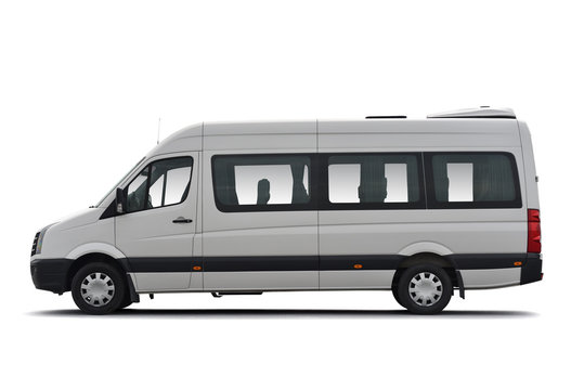 Clip art of bus shuttle of transfer service