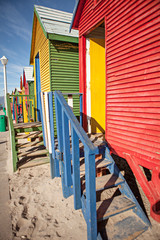Staande foto Zuid Afrika colored cabins in south africa