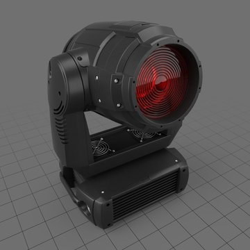 Red stage light