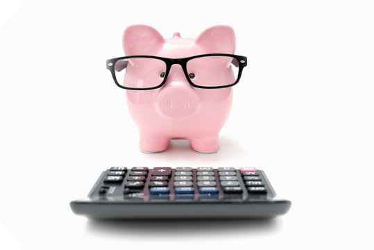 Savings and budget concept with piggy bank