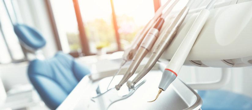 Dental drills in dentists office, dental care