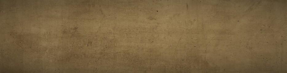 dunkelbraune Struktur, brauner Hintergrund, strukturierte Hintergrund Struktur mit rissen, horizontaler Banner , braune wand, braunes Gestein