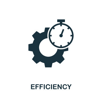 Efficiency icon symbol. Creative sign from quality control icons collection. Filled flat Efficiency icon for computer and mobile