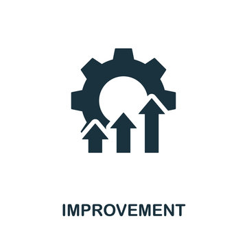 Improvement icon symbol. Creative sign from quality control icons collection. Filled flat Improvement icon for computer and mobile
