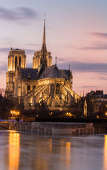 Fotobehang Monument The Notre Dame is historic Catholic cathedral, one of the most visited monuments in Paris.