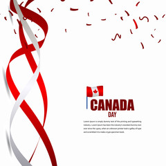 Canada Independent Day Celebration Design Illustration Vector Template