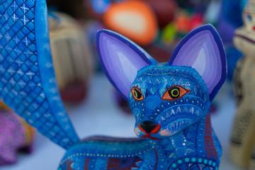 Fototapeta Alebrije, trancelate; Mexical art craft in Oaxaca obraz