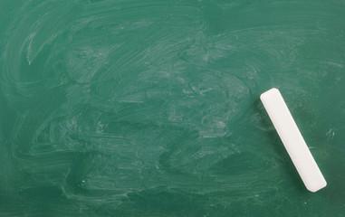 Green chalkboard, blank school board background with white chalk