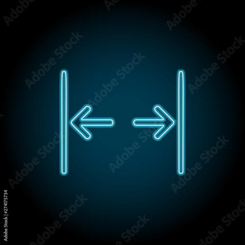 Gap, text neon icon  Simple thin line, outline vector of