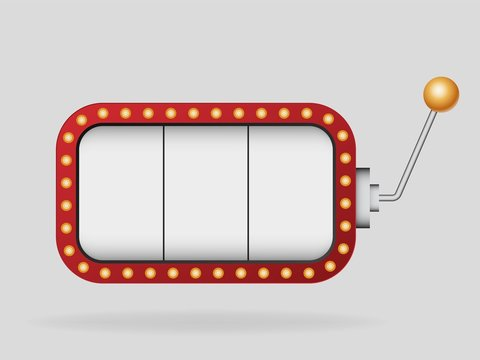 Slot machine vector template .