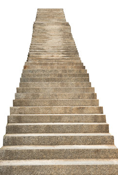 stone staircase isolated on white background