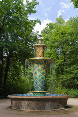 Mosaikbrunnen im Art déco  Großer Garten Dresden