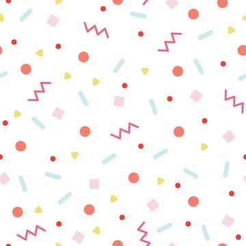 Random colorful confetti pattern