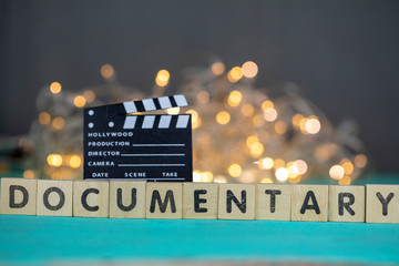 Documentary Movie Concept, Clapperboard
