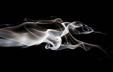Garden Poster Smoke Smoke on black background