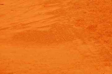 Texture close-up of clay tennis court