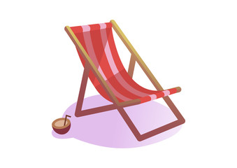 Chair beach isolated