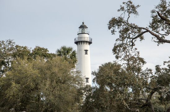 Hunting Island State Park lighthouse in South Carolina