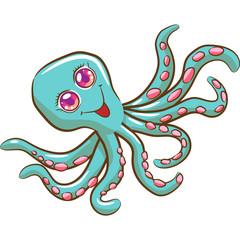 octopus vector graphic