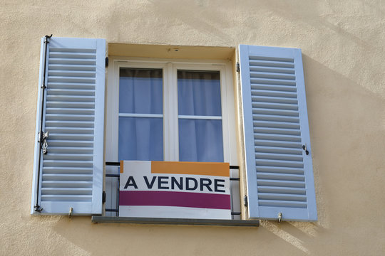 Apartment For Sale Sign In France