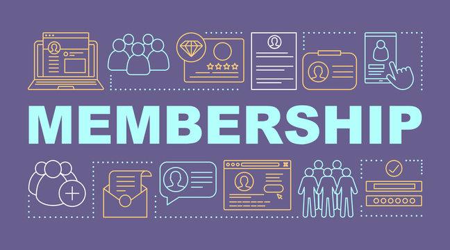 Membership word concepts banner