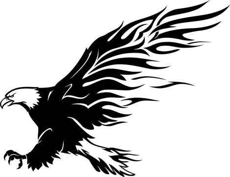 Bald Eagle Flame Abstract Wings