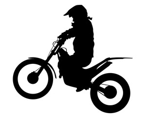 Wall Mural - Sport motorcycle and man white background