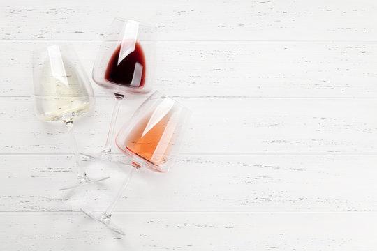 Various wine glasses