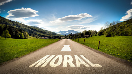 Fototapete - Schild 401 - Moral