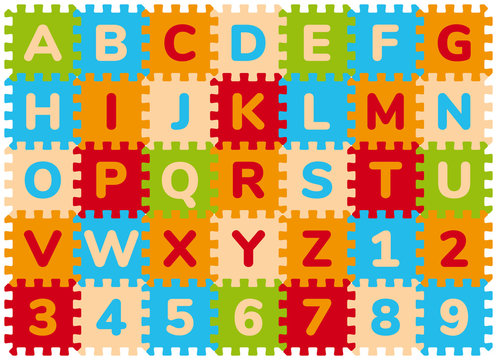 Foam Baby Kids Play Mat Alphabet And Numbers Puzzle