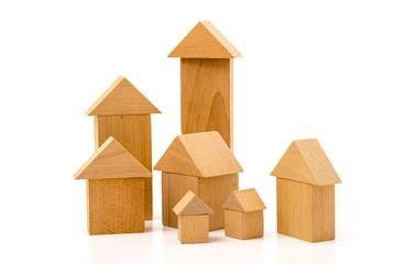 Häuser aus Bauklötzen